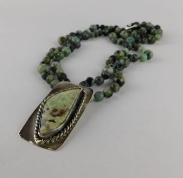 Agate Turquoise Silver Necklace