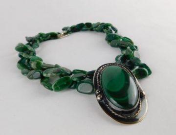Malaquita Silver Necklace