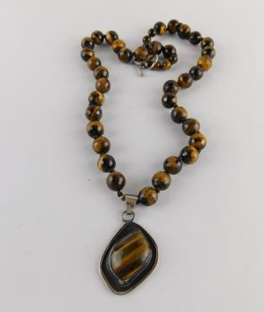 Tigre Eye Silver Necklace