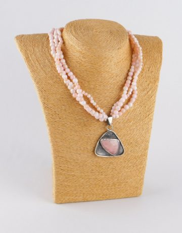Silver Necklace with Peruvian Opal